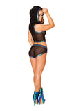 J-Valentine Black Opal Trim Sporty Shorts
