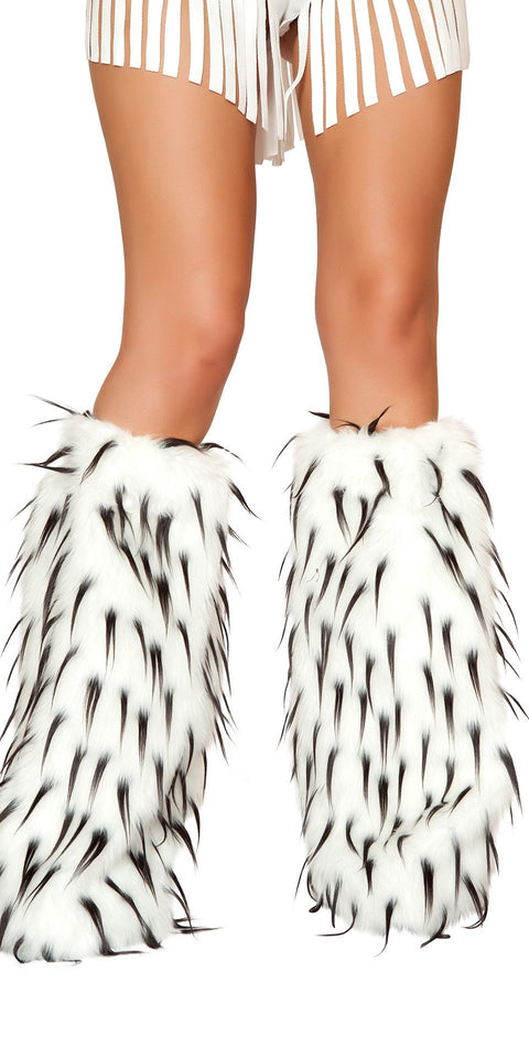 J-Valentine Black Spiked Rave Fluffies