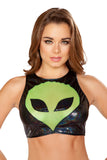 Roma Black & Lime Alien Top