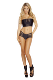 J-Valentine Solid Black Strappy Bottoms