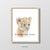 baby lion cub portrait nursery playroom art wall decor