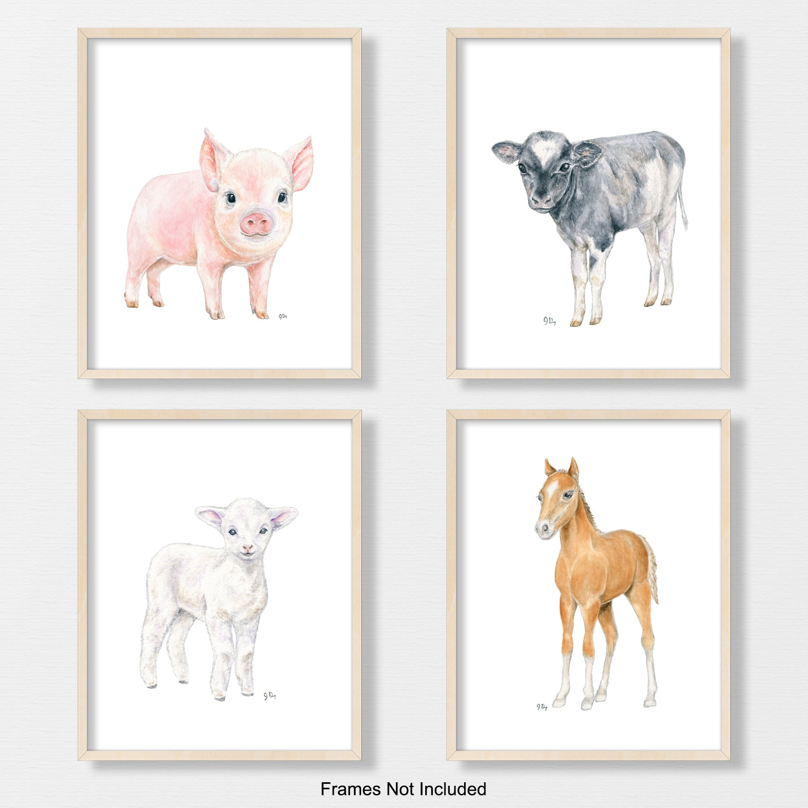 Farm Animal Prints Set of 4