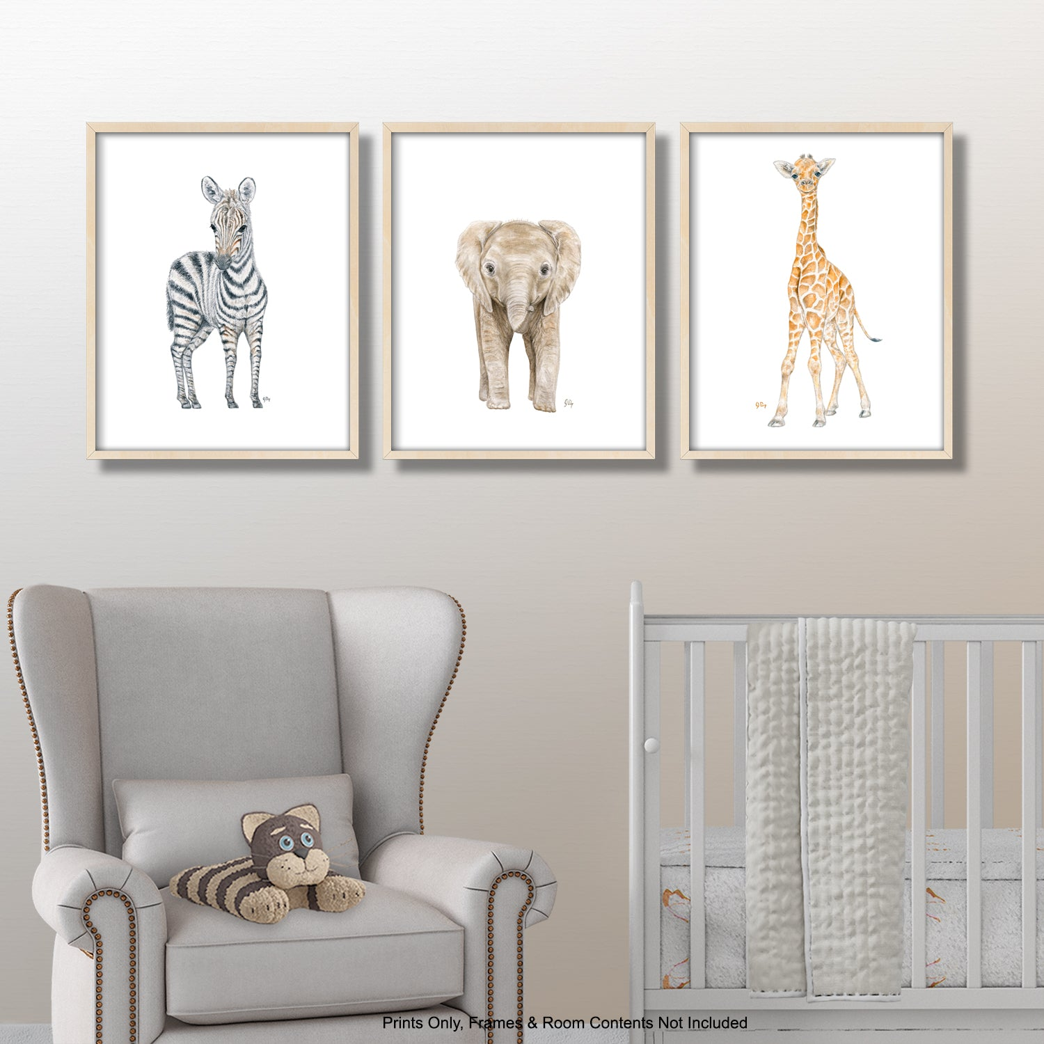 Safari Animal Prints Set of 3