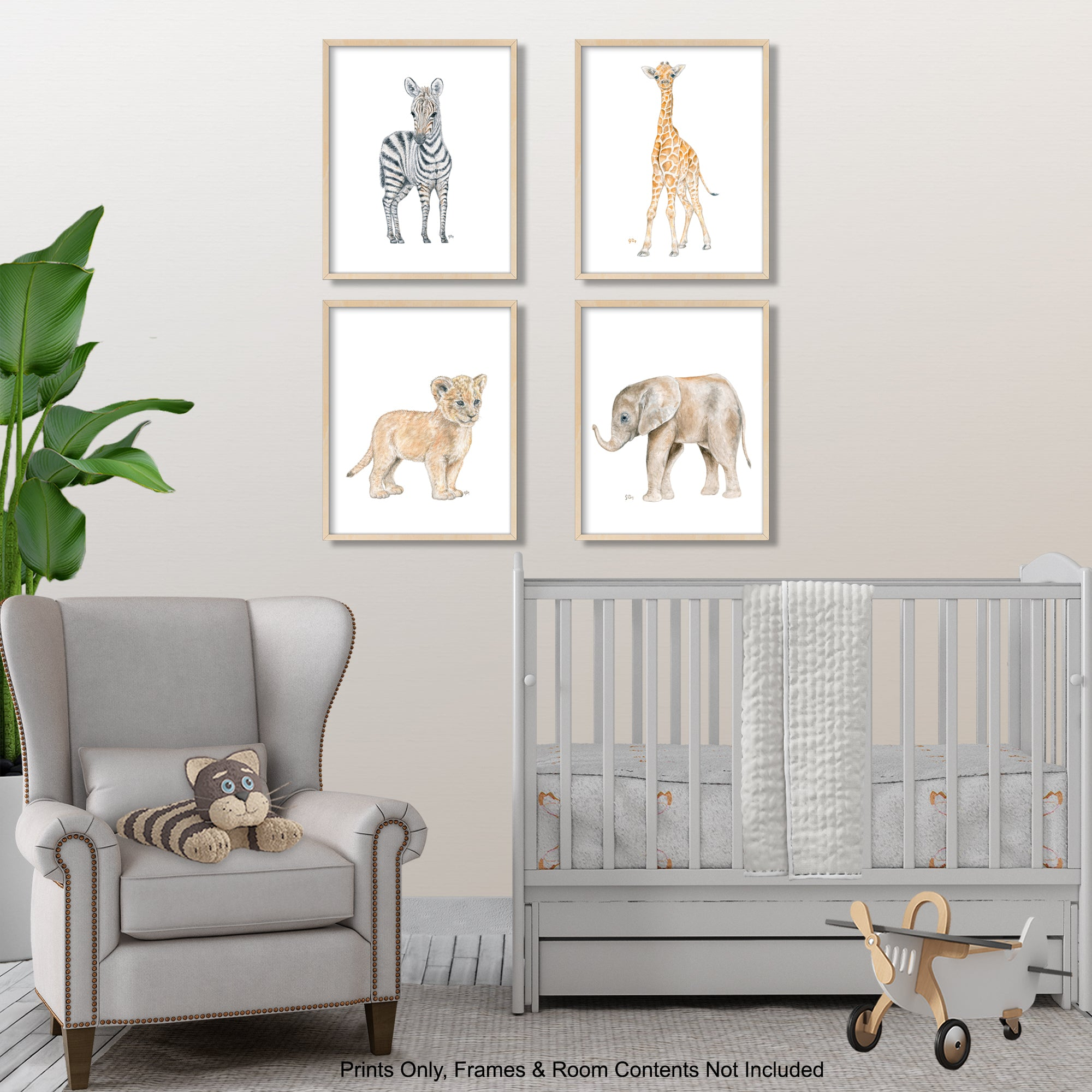Safari Animal Prints Set of 4