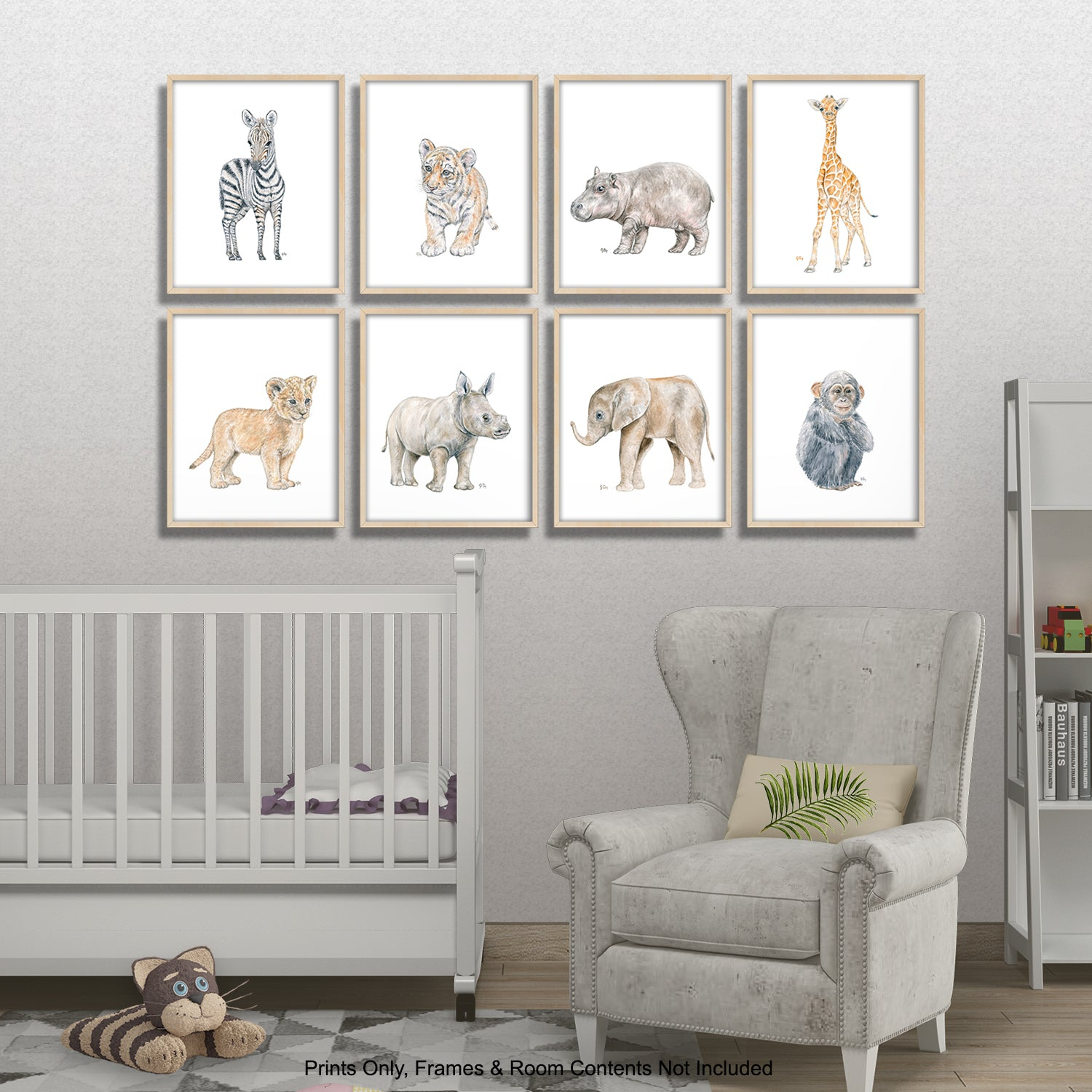 Safari Animal Prints Set of 8