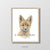 baby fox portrait nursery playroom art wall decor