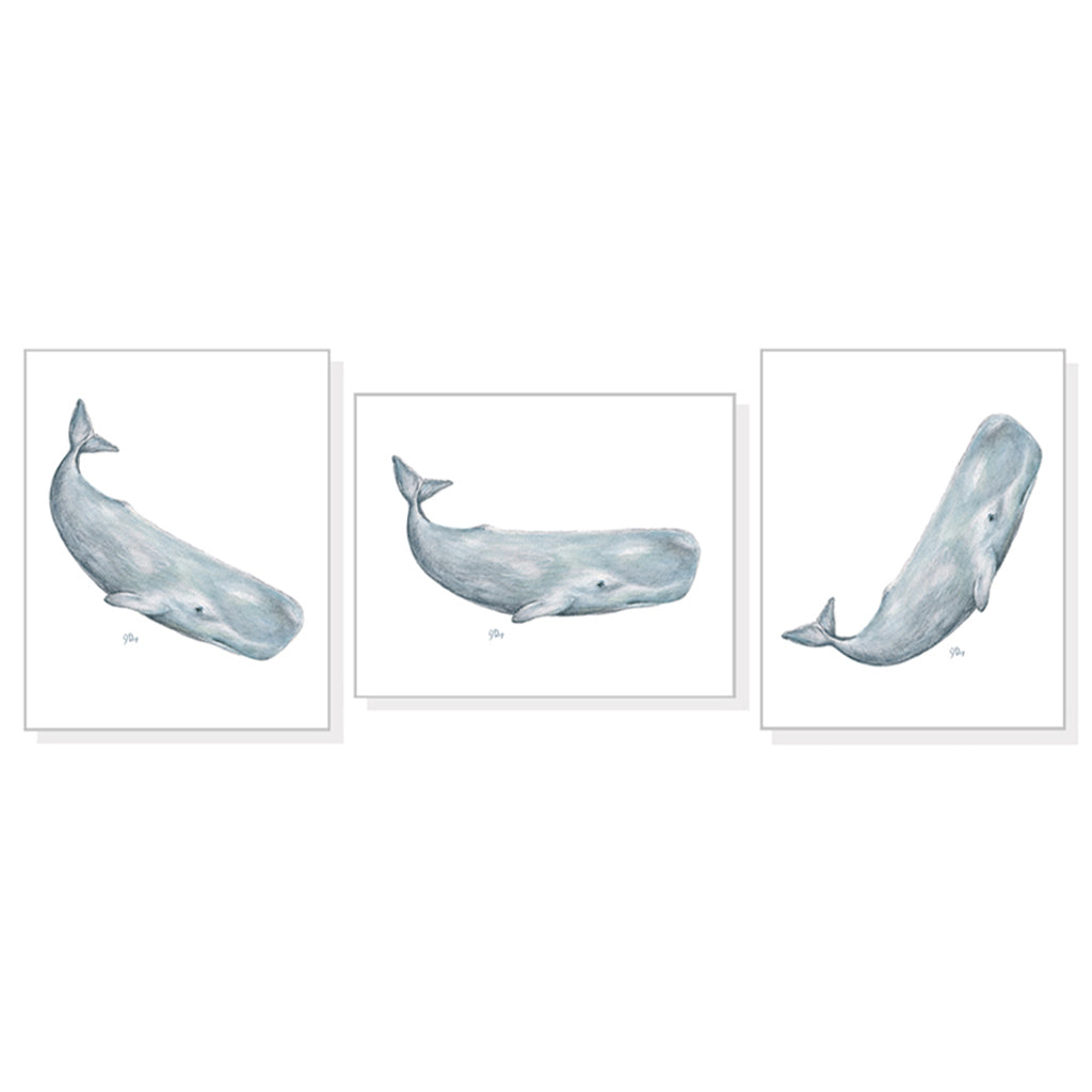 Whimsical Whale Art Prints