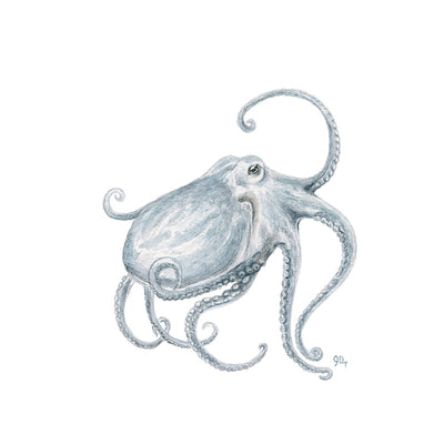 Blue Octopus Nautical Wall Decor