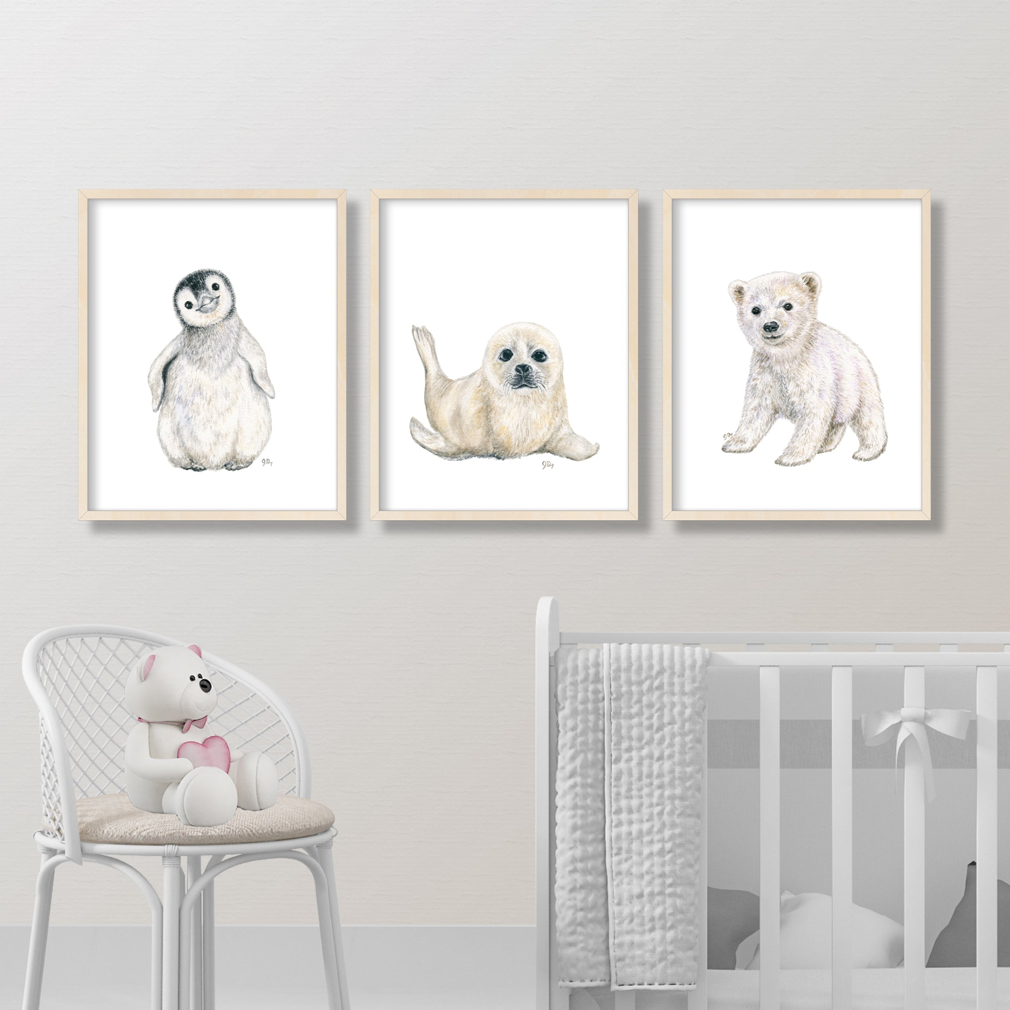 Arctic Animal Prints Set of 3