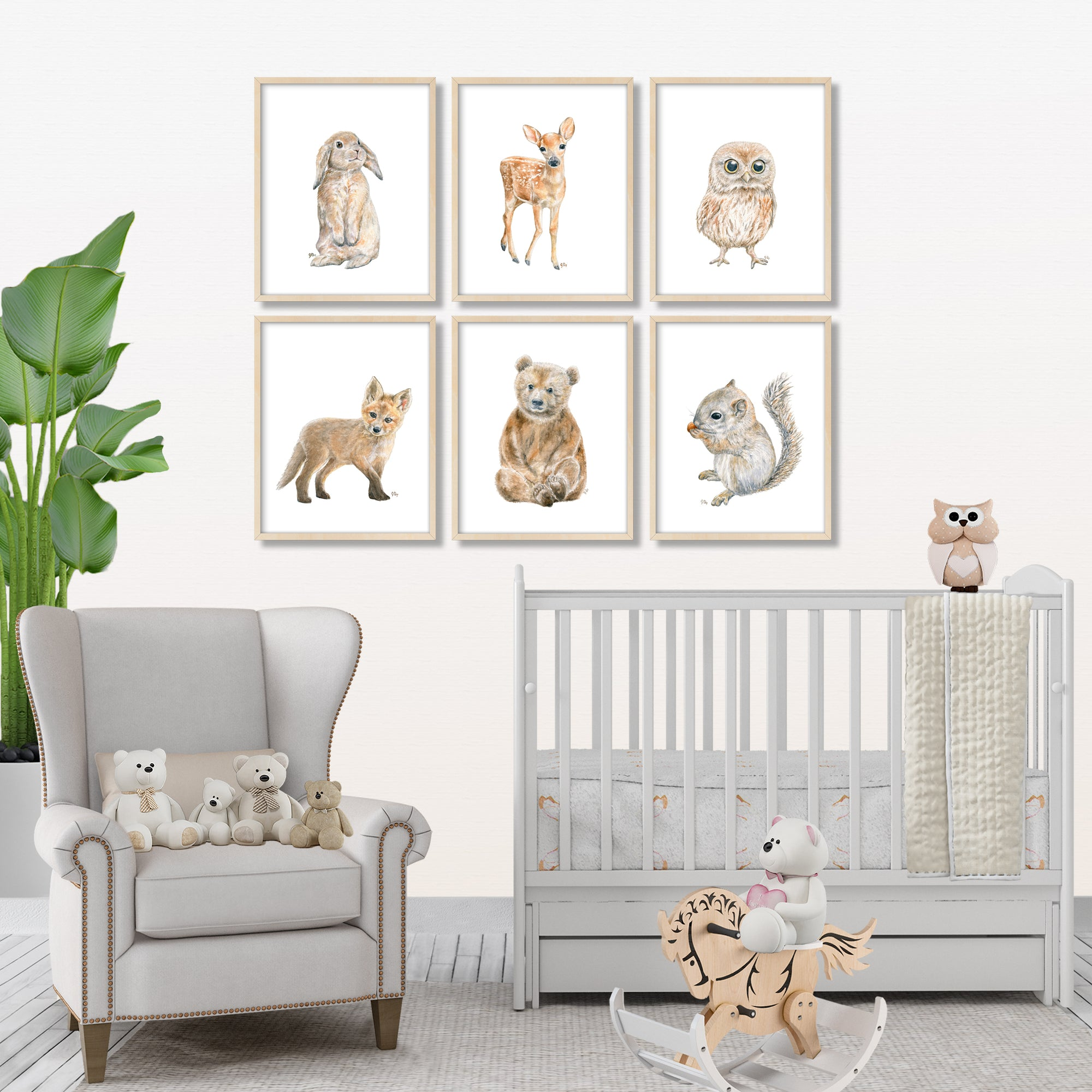 Woodland Animal Prints Set 6