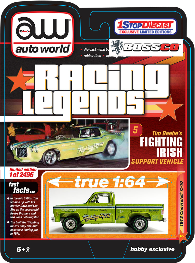 "AUTOWORLD - '73 CHEVY C10 ""FIGHTING IRISH"" ***PRE ORDER***"