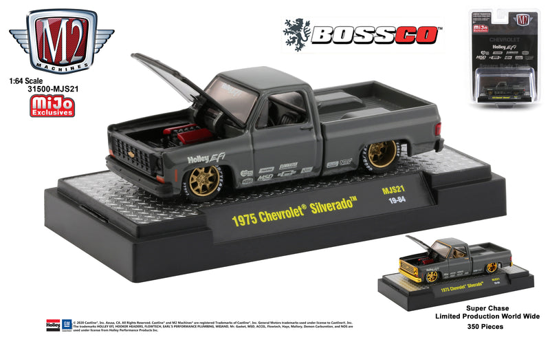 "M2 '75 CHEVY SILVERADO HOLLEY ""SEMI GLOSS GREY"""