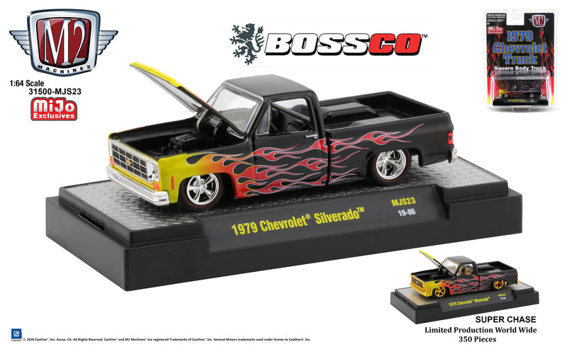 "M2 '79 CHEVY SQUAREBODY ""BLACK with FLAMES"" *** PRE ORDER ***"