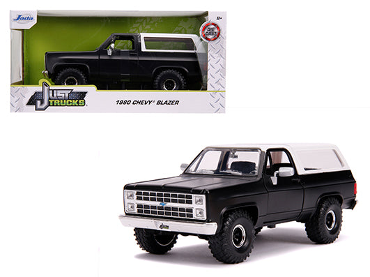 "JADA TOYS - 1/24 1980 CHEVY BLAZER K5  OFF ROAD ""FLAT BLACK & WHITE"""