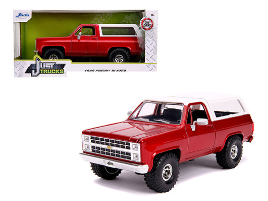"JADA TOYS - 1/24 1980 CHEVY BLAZER K5  OFF ROAD ""RED & WHITE"" PRE ORDER"