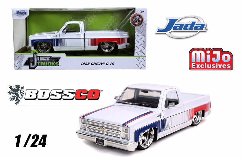 "JADA 1/24 1985 CHEVY C10 ""WHITE"" 5 SPOKES"