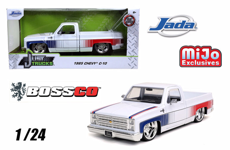 "JADA 1/24 1985 CHEVY C10 ""WHITE"" STAR WHEELS"