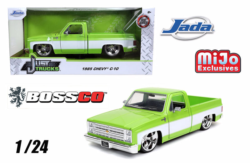 "JADA 1/24 1985 CHEVY C10 ""GREEN"" 5 SPOKES"