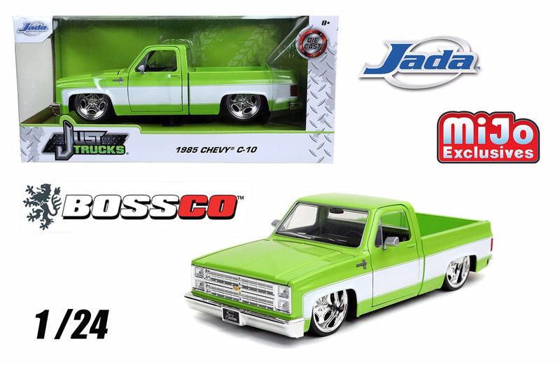 "JADA 1/24 1985 CHEVY C10 ""GREEN"" STAR WHEELS"