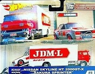 HOT WHEELS -  TEAM TRANSPORT JDM NISSAN & SAKURA SPRINTER (IN STOCK)