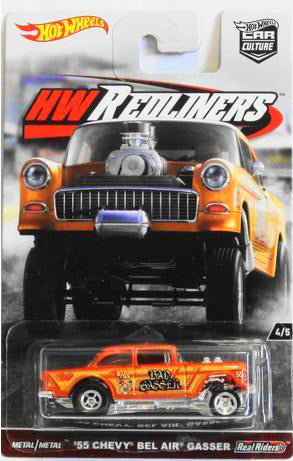 HOT WHEELS -  REDLINERS '55 CHEVY BEL AIR GASSER