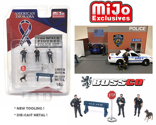 1/64 AMERICAN DIORAMA 6 PC. POLICE SET