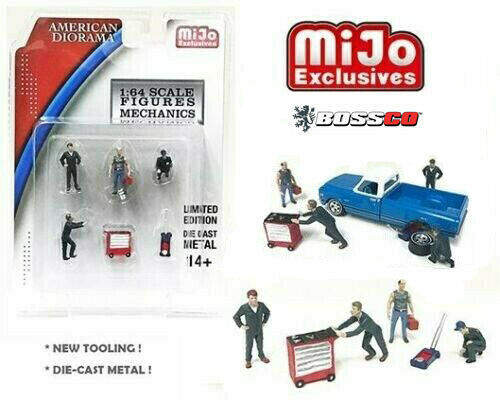 1/64 AMERICAN DIORAMA 6 PC. MECHANIC SET