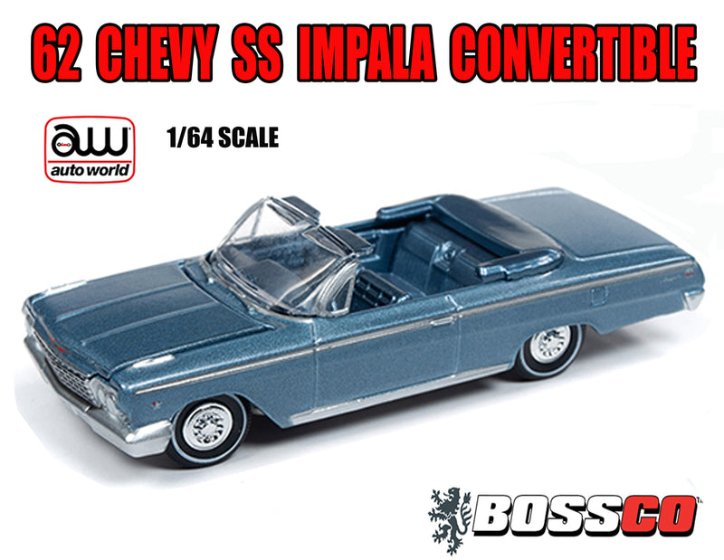 AUTOWORLD - 62 CHEVY SS IMPALA CONVERTIBLE  (BLUE)
