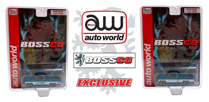"AUTOWORLD - '73 CHEVY CHEYENNE BOSSCO ""TEAL"" (2PC. SET)"