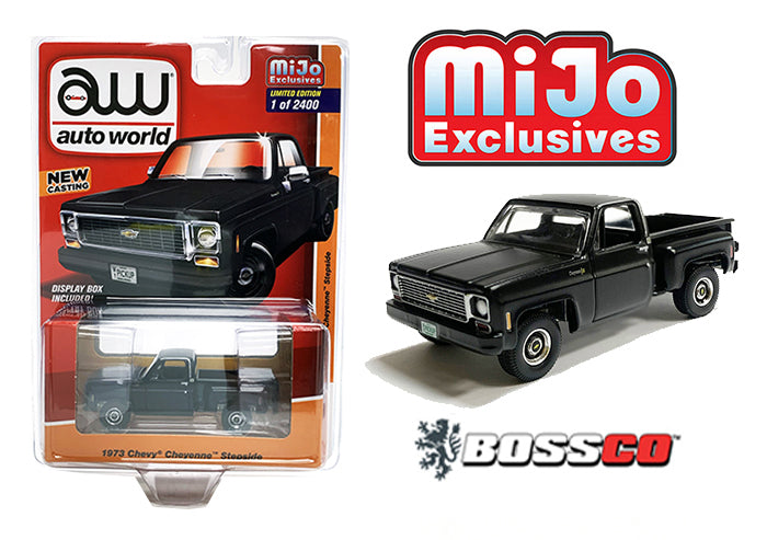 AUTOWORLD - '73 CHEVY CHEYENNE STEPSIDE (BLACK)