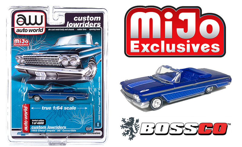 AUTOWORLD - 1962 CHEVY IMPALA CONVERTIBLE LOWRIDER (BLUE)