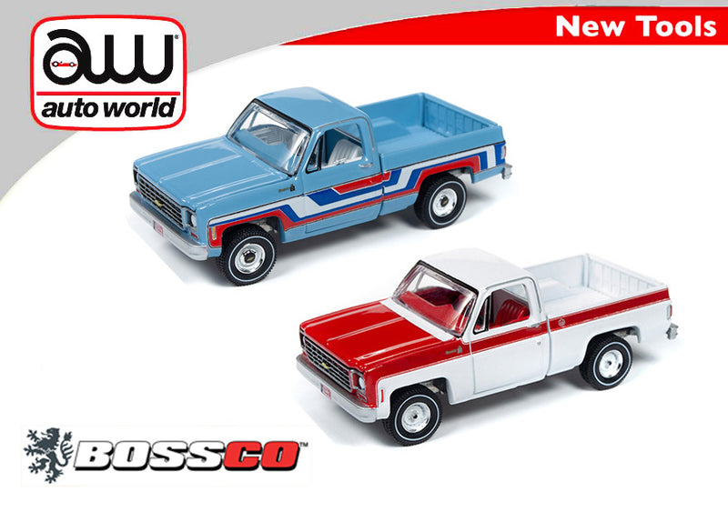 AUTOWORLD - '76 CHEVY TRUCK (SET of 2) ***PRE ORDER***