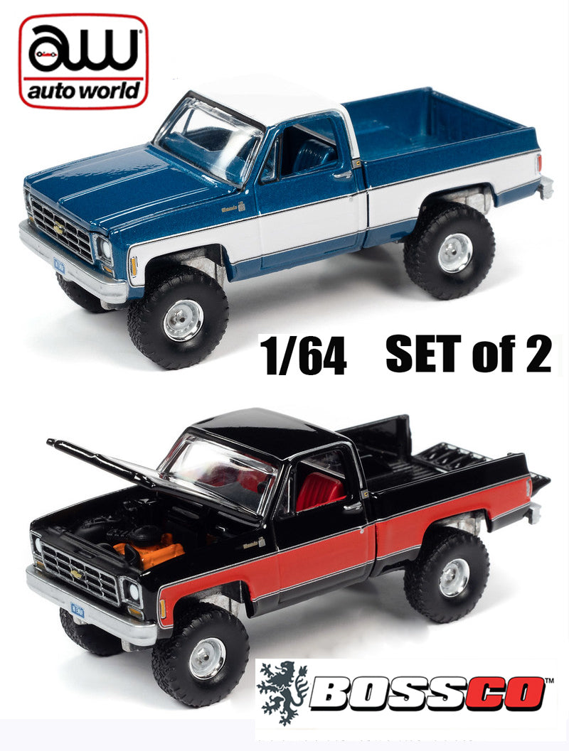 AUTOWORLD - '78 CHEVY K10 SILVERADO (SET of 2) ***PRE ORDER***