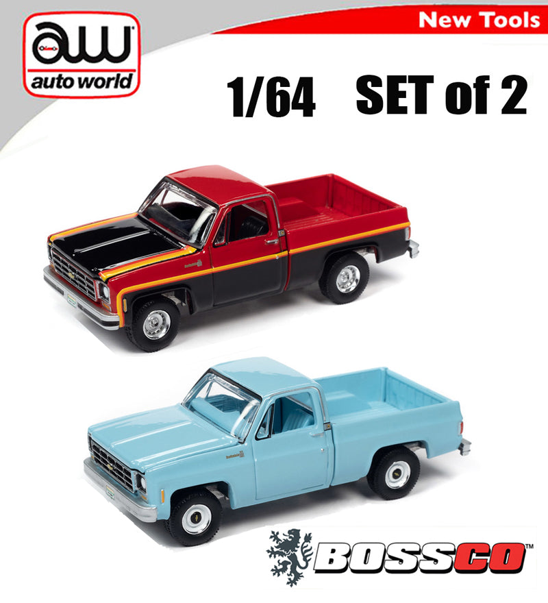 AUTOWORLD - '79 CHEVY SCOTTSDALE (SET of 2) ***PRE ORDER***