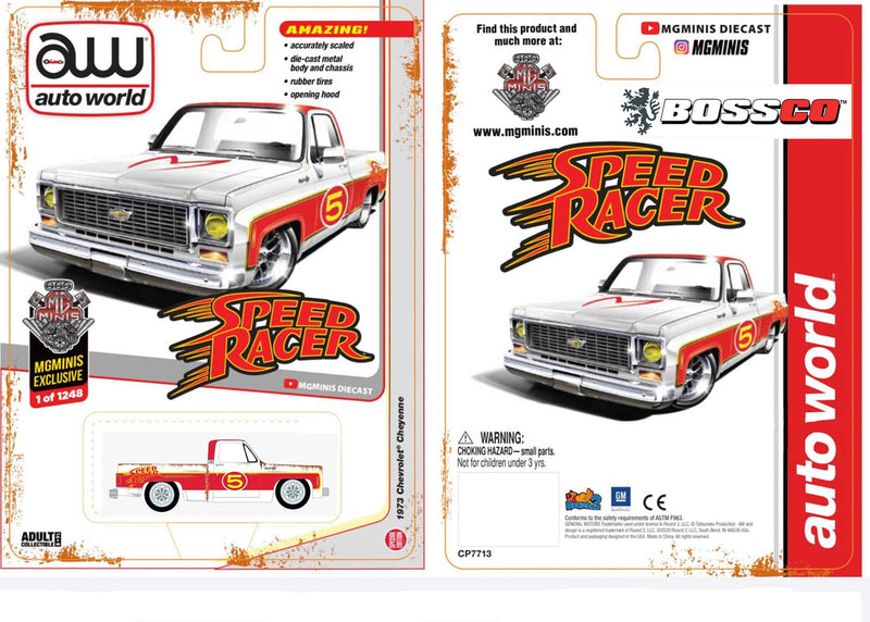 AUTOWORLD - '73 CHEVY CHEYENNE (SPEED RACER SET OF 2) ***PRE ORDER***