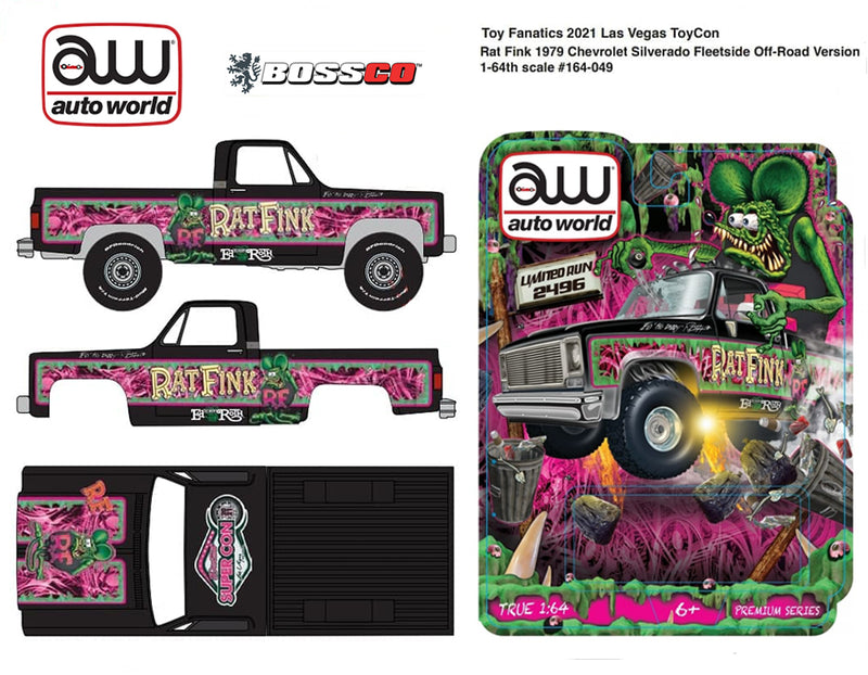 "AUTOWORLD - ""2021 SUPER CON"" '79 CHEVY 4X4 ""RAT FINK"
