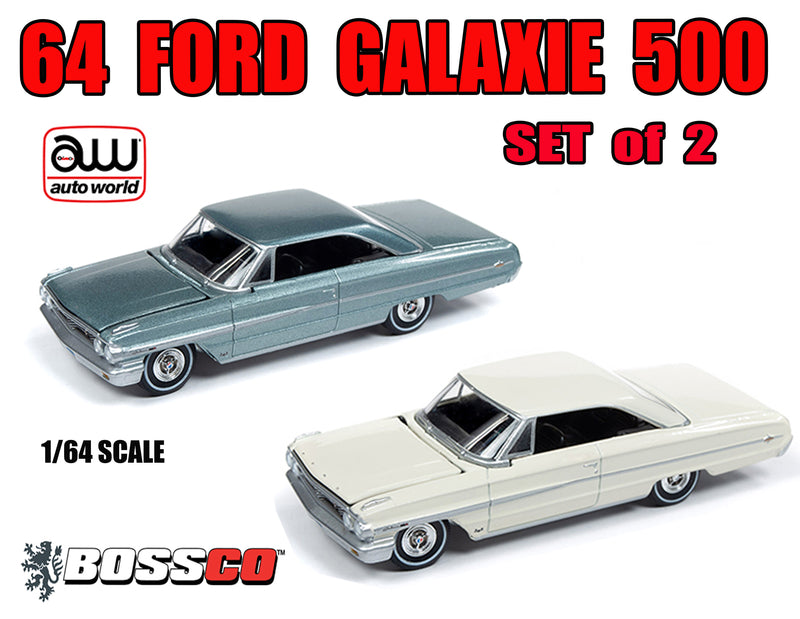 AUTOWORLD - 64 FORD GALAXIE 500  SET of 2