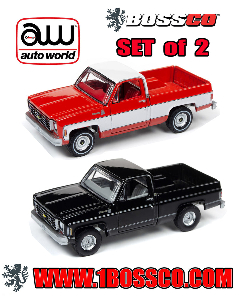 AUTOWORLD - '75 CHEVY SILVERADO (SET of 2) ***PRE ORDER***