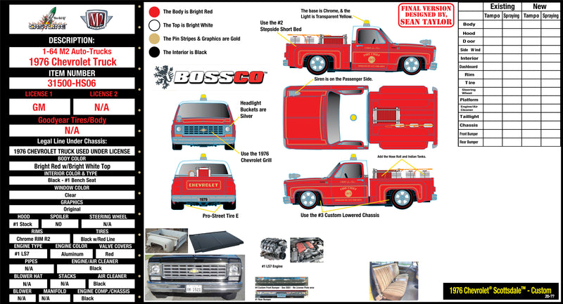 "M2 '76 CHEVY SCOTTSDALE CUSTOM ""RESCUE TRUCK"" *** PRE ORDER ***"