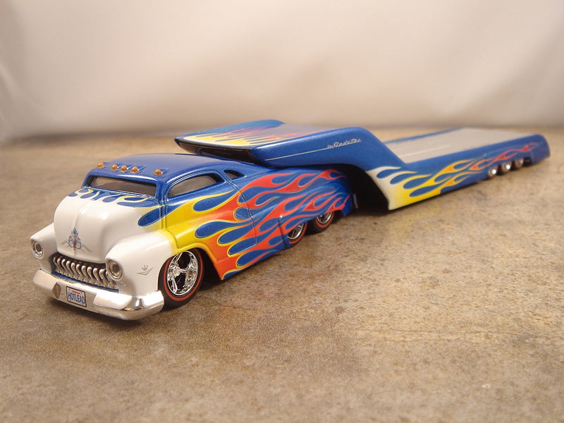 "SLEDSTER - FLATBED ""BLUE with FLAMES"""