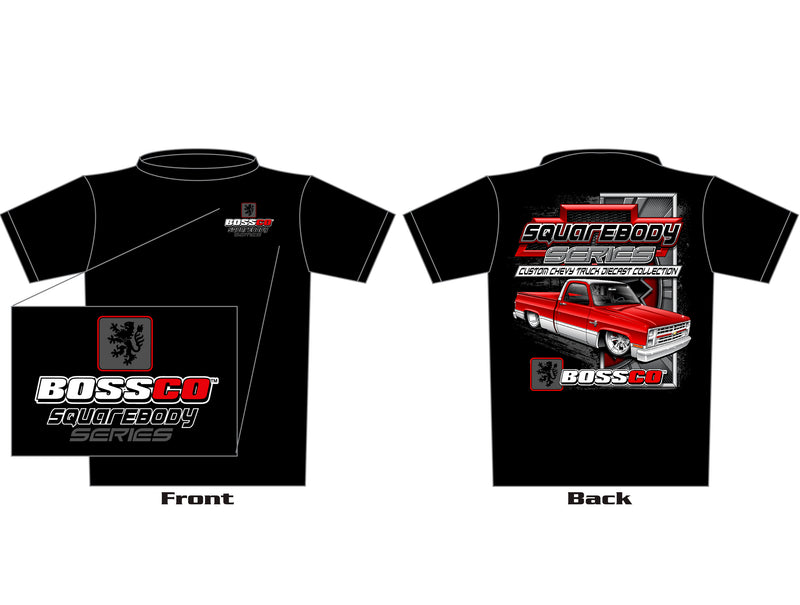 "BOSSCO CHEVY TRUCK SQUAREBODY SERIES SHORT SLEEVE T-SHIRT ""BLACK"""