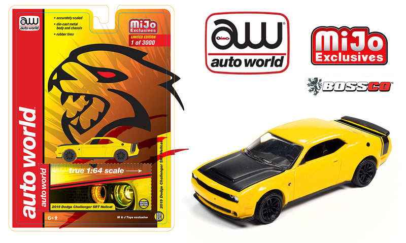 AUTOWORLD - 2019 DODGE CHALLENGER SRT HELLCAT (YELLOW)