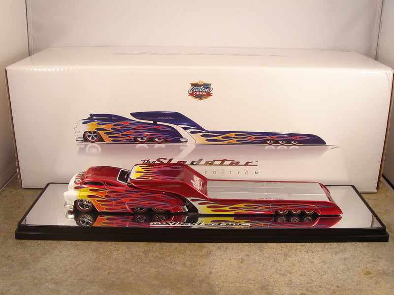 "SLEDSTER - FLATBED ""RED with FLAMES CHASE"""
