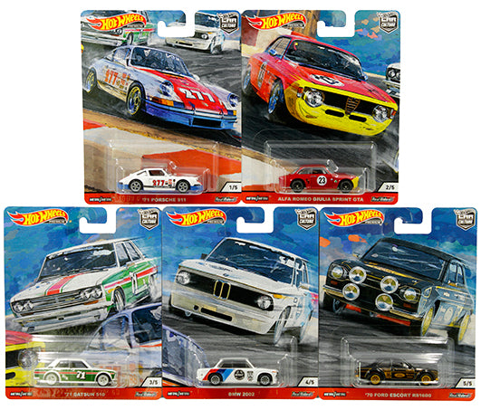 HOT WHEELS -  CAR CULTURE DOOR SLAMMERS (SET of 5)
