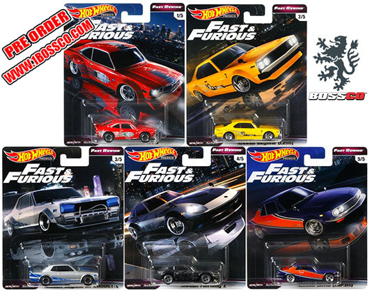 "HOT WHEELS - FAST & FURIOUS ""FAST REWIND"" (SET of 5) ***PRE ORDER***"