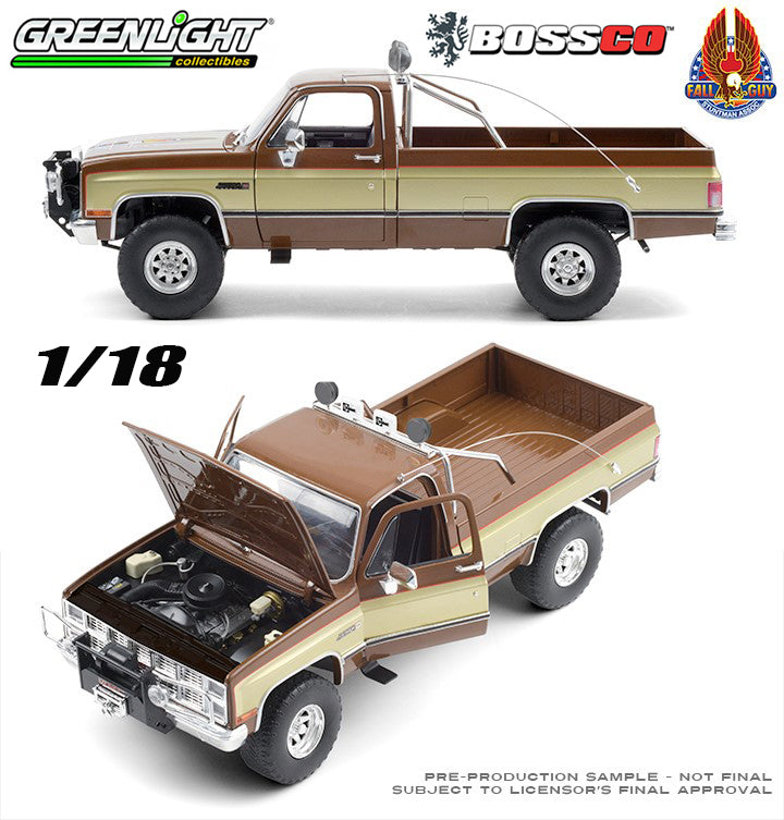 "GREENLIGHT  1/18 SCALE  1982 GMC K 2500 TRUCK ""FALL GUY""  ***PRE ORDER***"