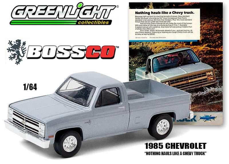 GREENLIGHT - 1985 CHEVY TRUCK (SILVER) ***PRE ORDER***