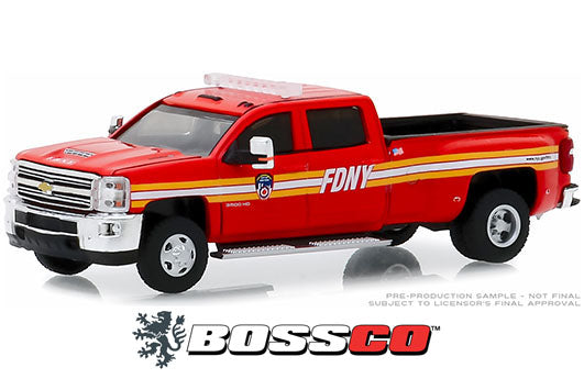 "GREENLIGHT - 2018 CHEVY SILVERADO 3500 DUALLY ""FDNY"""