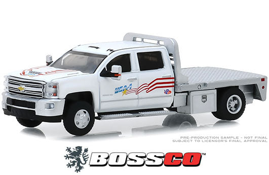 "GREENLIGHT - 2018 CHEVY SILVERADO 3500 DUALLY FLATBED ""USA-1"""