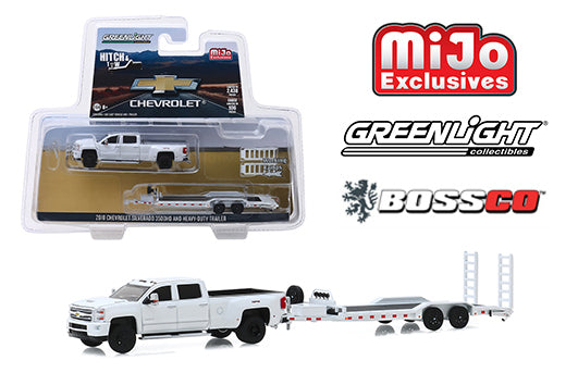 GREENLIGHT - 2018 CHEVY SILVERADO 3500 DUALLY W/FLATBED